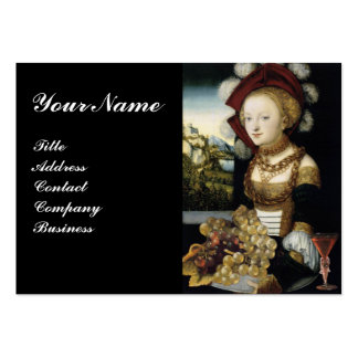 YOUNG GIRL ,ANTIQUE VINEYARD GRAPES WINE TASTING LARGE BUSINESS CARDS (Pack OF 100)