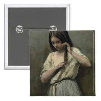 Young Girl at her Toilet Button