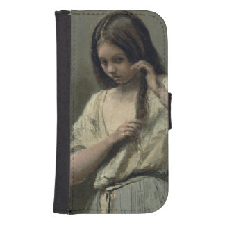 Young Girl at her Toilet Phone Wallet