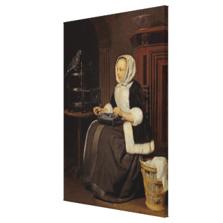Young Girl at Work Canvas Prints