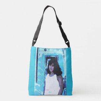 Young Girl by Old Blue Door Crossbody Bag