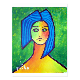 Young Girl by Piliero Postcard