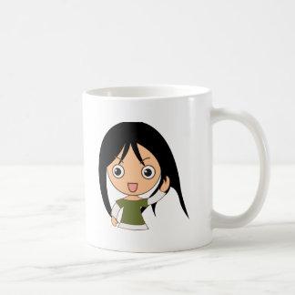 Young girl coffee mug