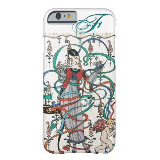 YOUNG GIRL ,COLORFUL RIBBON SWIRLS ,CUPID Monogram Barely There iPhone 6 Case