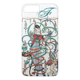 YOUNG GIRL ,COLORFUL RIBBON SWIRLS ,CUPID Monogram iPhone 8 Plus/7 Plus Case