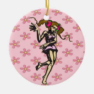 Young Girl Dancer Christmas Ornament