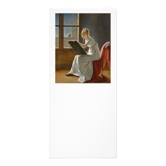 Young Girl Drawing Rack Card