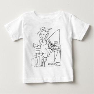 Young Girl Fishing Baby T-Shirt