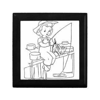Young Girl Fishing Jewelry Box