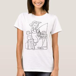 Young Girl Fishing T-Shirt