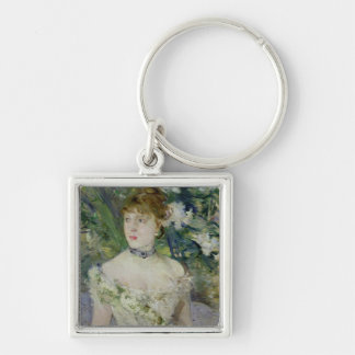 Young girl in a ball gown, 1879 keychain