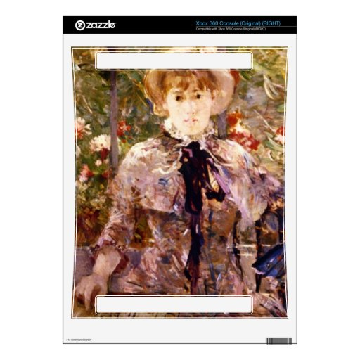 Young Girl in a Green House by Berthe Morisot Xbox 360 Decal
