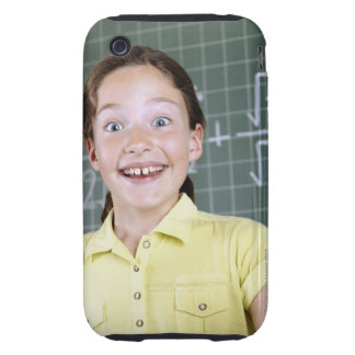 young girl in front of blackboard having idea tough iPhone 3 covers
