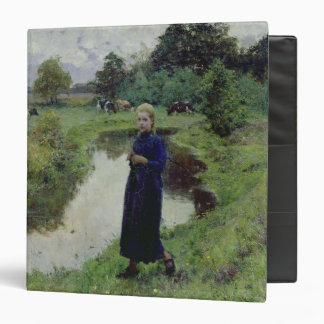 Young Girl in the Fields 3 Ring Binder
