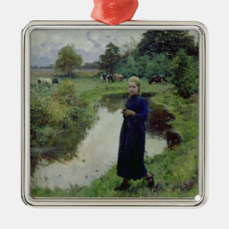 Young Girl in the Fields, Metal Ornament