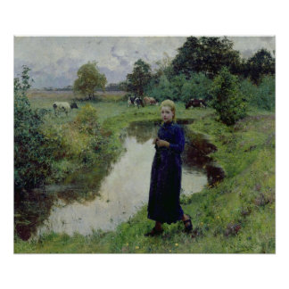 Young Girl in the Fields, Poster