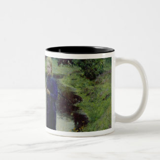 Young Girl in the Fields, Two-Tone Coffee Mug