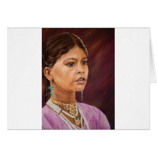 Young Girl, Jaisalmer Greeting Card