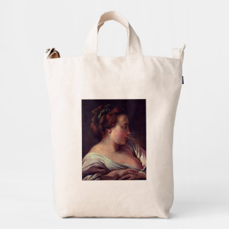 Young Girl Jeune fille by Francois Boucher Duck Canvas Bag