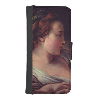 Young Girl Jeune fille by Francois Boucher iPhone 5 Wallet Case