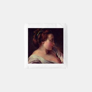 Young Girl Jeune fille by Francois Boucher Reusable Bag