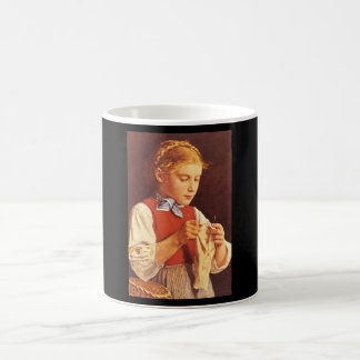 Young Girl Knitting',_Portraits Coffee Mug