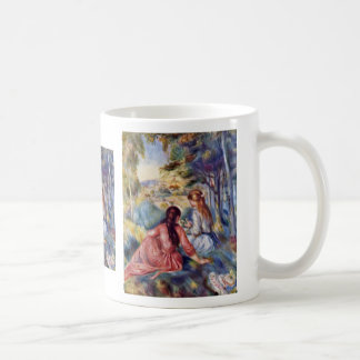 Young Girl On The Meadow By Pierre-Auguste Renoir Mug