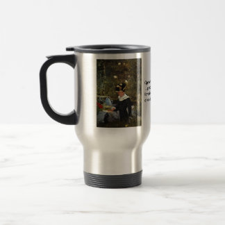 Young Girl on the Threshold of the Garden at Belle Travel Mug