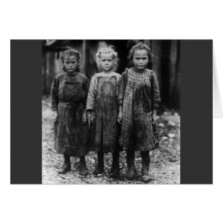 Young Girl Oyster Shuckers, early 1900s Greeting Card