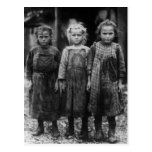 Young Girl Oyster Shuckers, early 1900s Postcards