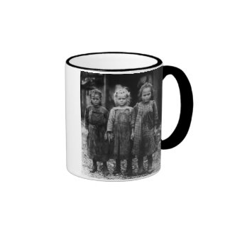 Young Girl Oyster Shuckers, early 1900s Ringer Coffee Mug