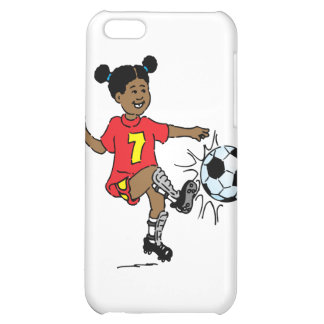 Young Girl Playing Soccer iPhone 5C Covers