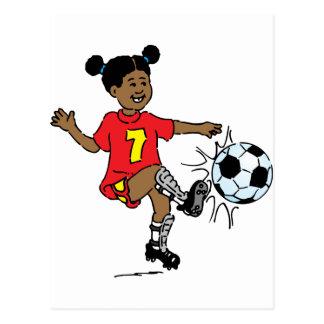 Young Girl Playing Soccer Postcard