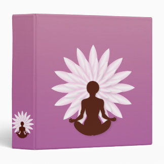 Young girl practicing yoga 3 ring binder