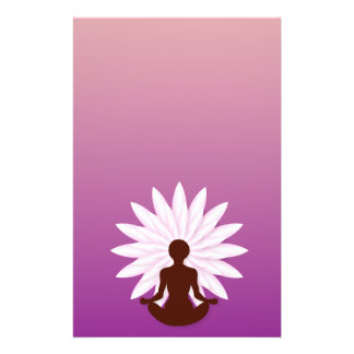 Young girl practicing yoga flyer design