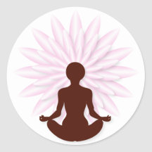 Young girl practicing yoga stickers