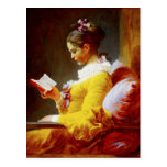 Young Girl Reading - 18th century painting Post Cards