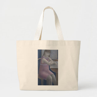 Young Girl Reading 2008 Jumbo Tote Bag
