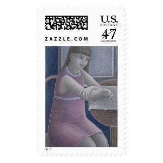 Young Girl Reading 2008 Postage