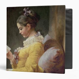 Young Girl Reading, c.1776 3 Ring Binder