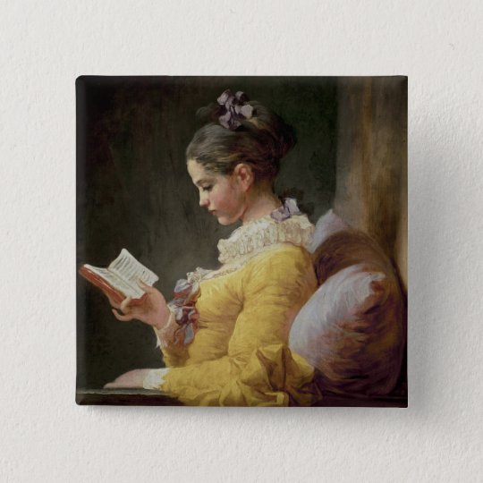 Young Girl Reading, c.1776 Button