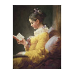 Young Girl Reading, c.1776 Canvas Print