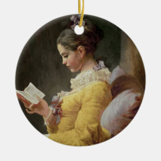 Young Girl Reading, c.1776 Ceramic Ornament