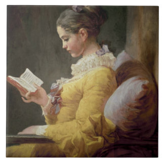Young Girl Reading, c.1776 Ceramic Tile