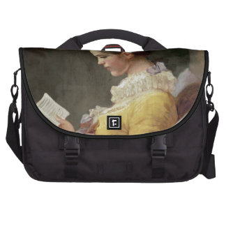 Young Girl Reading, c.1776 Commuter Bag