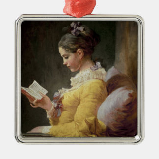 Young Girl Reading, c.1776 Metal Ornament