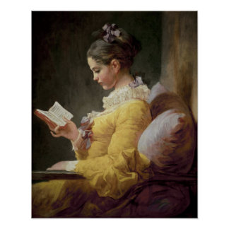 Young Girl Reading, c.1776 Poster