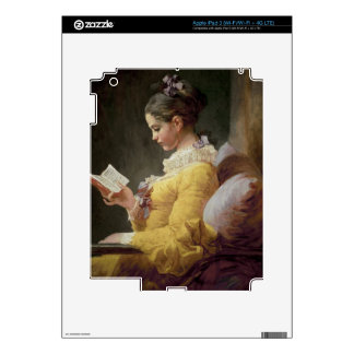 Young Girl Reading, c.1776 Skins For iPad 3