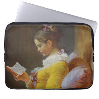 Young Girl Reading - Jean-Honoré Fragonard Laptop Sleeve