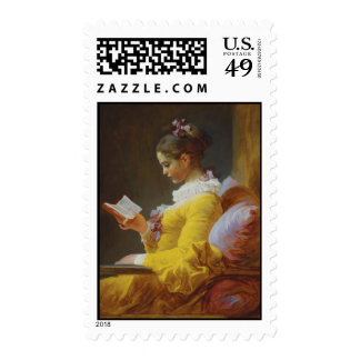 Young Girl Reading - Jean-Honoré Fragonard Postage Stamps